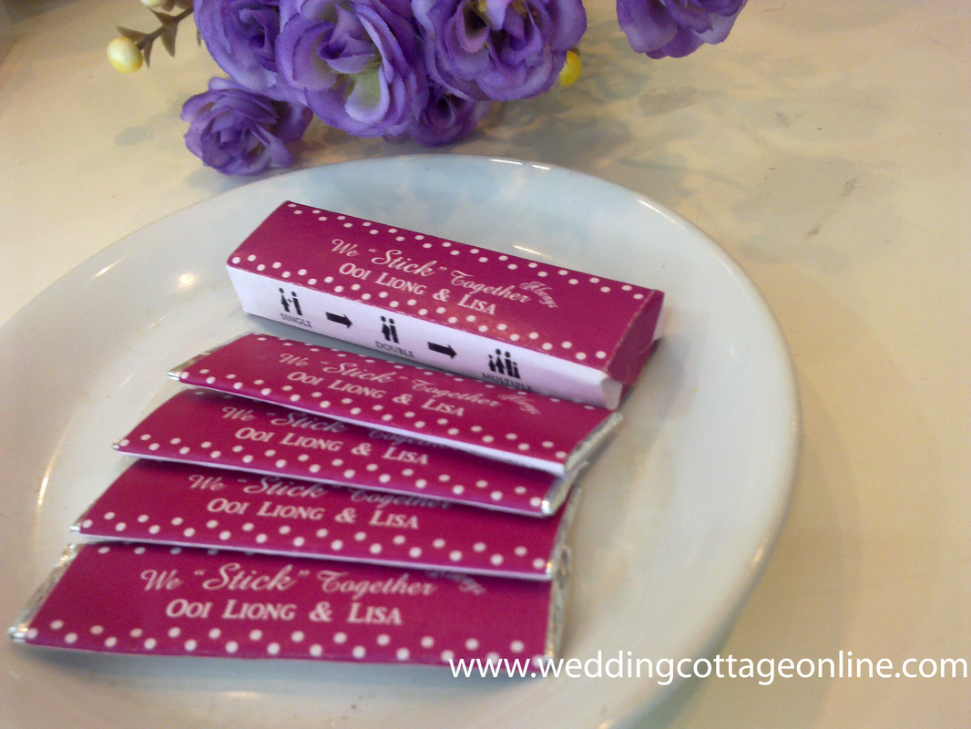 Personalized Chewing Gum Wrapper - Unique Wedding Favors & Door ...