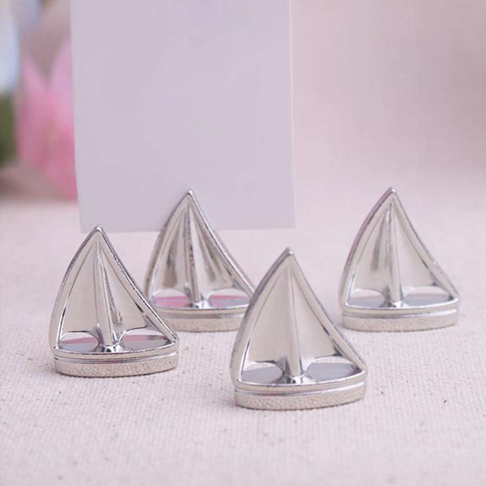 Silver Sail Boat Place Card Holder - Unique Wedding Favors & Door ...
