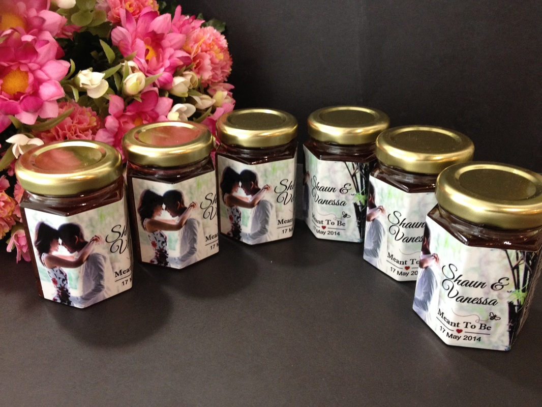 Strawberry Jam - Sticker - Unique Wedding Favors & Door Gifts with ...
