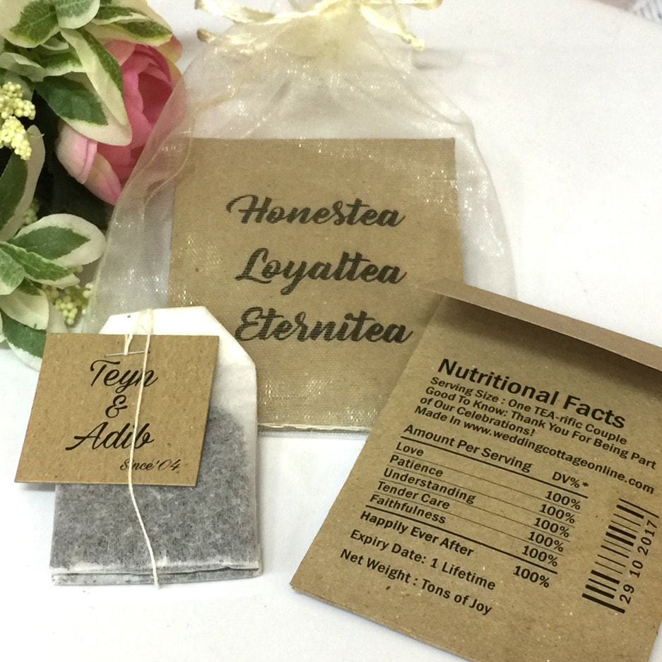 Personalized Tea Bag - Unique Wedding Favors & Door Gifts with Wide ...