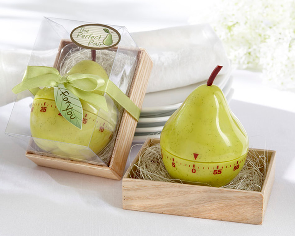 The Perfect Pair Pear Timer Unique Wedding Favors Door Gifts